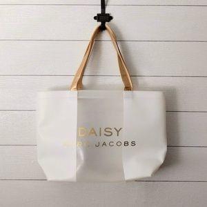 Marc Jacobs Daisy PVC Large Tote Bag Gold Straps
